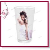 17 oz Taza de cristal con leche de sublimación con mancha blanca