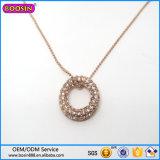 ダイヤモンドが付いている中国の工場卸売のビードの宝石類音楽ノートのネックレス