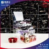 China Acrylic Espelho de maquiagem acrílico Caixas de armazenamento de dados do organizador com chama