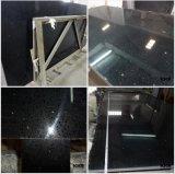 La pietra pura del quarzo del nero 20mm per la cucina supera (Q1711112)