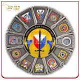 Plateerde het Antieke Brons van de douane Buitenlands Militair Muntstuk