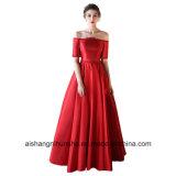 Мантия венчания сексуальной шикарной робы платья венчания сатинировки без бретелек