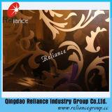 Silver /Golden gravados COPO/ projetados vidro decorativo / Hotel Vidro decoração/ cido vidro decorativo Gravado