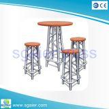 Алюминиевая самомоднейшая высокая деревянная верхняя таблица круглой штанги
