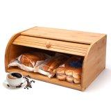 Caixa de bambu Eco-Friendly para pão Caixa de Armazenamento de bambu para contador de cozinha