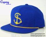 شعبيّة ملكيّة اللون الأزرق 6 لوح [سنببك] غطاء مع صفراء حبل قبعة