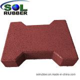 証明された私道によってリサイクルされるゴム製床タイルのペーバー