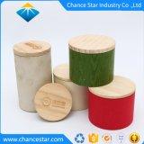 Kundenspezifische starke Papprunder Papierkasten mit hölzerner Kappe
