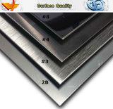 430 feuille extérieure balayée par satin d'acier inoxydable du numéro 4