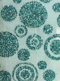 ガラス石のネットまたは網の刺繍