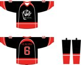 Healong Sportswear personnalisé impression en sublimation maillot de hockey réversible