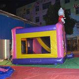 Banheira de vender Rosa Cartoon Castelo Bouncer insufláveis para crianças