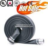 Tubo flessibile durevole della tela di canapa del fuoco della gomma di nitrile da 1 pollice, tubo flessibile flessibile di lotta antincendio