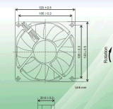 DC 팬. 냉각 장치, Ce&UL 증명서를 가진 Size120*120*20mm. 주문을 받아서 만들어진 서비스를 제공하십시오