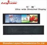 Ultra Wide 37 pouces étiré Bar de la publicité Media Player de signalisation numérique multimédia de réseau WiFi moniteur LED Affichage panneau LCD pleine couleur