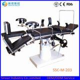 Mesa de operaciones manual ajustable de múltiples funciones del uso quirúrgico del hospital