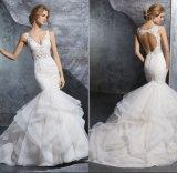 Robe de mariage sexy de soirée de bal d'étudiants de robe nuptiale de Ballgown de sirène de mode