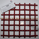 A cor vermelha 65mn frisou o engranzamento de fio da tela usado na tela de vibração