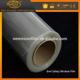 Película de segurança transparente da rejeção UV da fonte da fábrica da alta qualidade