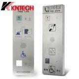 Precio barato, empuje Knzd-16 Línea de Ayuda a la llamada de intercomunicación del teléfono del teléfono de emergencia para Metro / aeropuerto