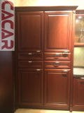 熱い販売はデザインおよび古典的な純木の食器棚を放す