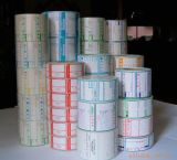 Collants et étiquette auto-adhésifs estampés de code à barres