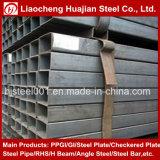 Tubo de acero del cuadrado de la sección de la depresión del material de carbón para el almacén