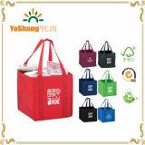 Bolso de compras no tejido de la promoción del logotipo de encargo colorido