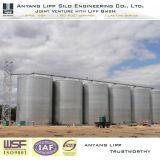 2500t el almacenamiento de granos de acero de silo de maíz con fondo plano proyecto Zambia