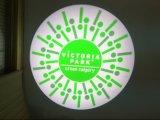 O diodo emissor de luz quente da venda gira o projetor do logotipo para a venda
