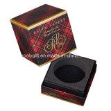 Casella impaccante di timbratura dorata di lusso personalizzata della candela del cartone con l'inserto