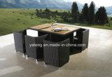 Blocco per grafici di alluminio con l'insieme del teck con la mobilia esterna di svago della presidenza che pranza insieme (YT233)
