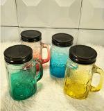Bottiglia di vetro del nuovo di colore muratore del cocktail con la maniglia