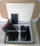 De Telefoon van de cel & Lojack & GPS Stoorzender voor 2g+3G+CDMA+4G/de Draagbare Stoorzender van 5 Antennes van Banden