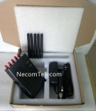 Teléfono celular y Lojack y GPS Jammer para 2g+3G+CDMA+4G / Portable 5 Bandas antenas Jammer