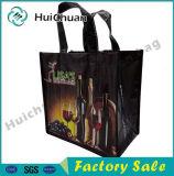 Sei pacchetto non tessuto del sacchetto della laminazione del sacchetto pp del vino delle bottiglie