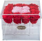 고품질 공간 아크릴 로즈 상자 결혼식 꽃 선물