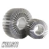 Profil en aluminium d'extrusion de radiateur avec le fini de moulin