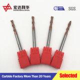 中国2つのフルート3のフルート4のフルートのタングステンの固体炭化物の端製造所、製粉カッター、球の鼻の端製造所