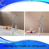 Trou unique bassin de la salle de bains en laiton chromé robinet du lavabo robinet mixte