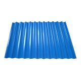 Couleur bleu recouvert de feuille de toit en acier ondulé