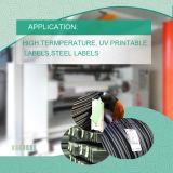 熱い鋼鉄、陶磁器の製品のためのラベル、高温ラベルのバーコードの識別