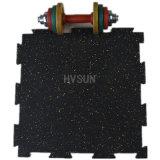 Negro con gris Fleck Gimnasio alfombras de baldosa de goma / Modelo Versafit azulejos Gimnasio
