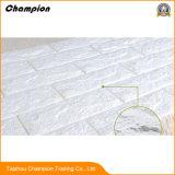 deckt Innentapeten-Hersteller des Effekt-3D in China, das für Projekt, preiswerte Tapete für Verkaufs-selbstklebende Wand verwendet wird, Tapeten-warme Farben-Tapete des Schaumgummi-3D mit Ziegeln
