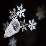 4W DEL tournant la lumière d'usager de boule de cristal de lampe d'ampoule de l'ampoule DEL de configuration du DJ d'étape de neige de lampe de RVB pour la lumière d'étape de Noël de barre de Pub du DJ KTV (flocon de neige blanc)