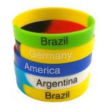 L'usine a directement adapté les Wristbands de silicone imprimés par soie de logo
