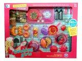 Cocina que cocina los juguetes del juego del alimento del corte para los cabritos