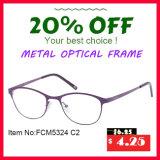 Optische Frame van het Metaal van het Ontwerp van de manier het Eenvoudige Klassieke Goedkope