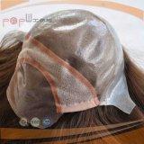 Высококачественный силиконовый человеческого волоса и кружевной Wig
