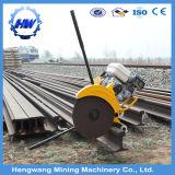 Tipo vertical máquina de estaca de aço do trilho da movimentação da gasolina do cortador do trilho